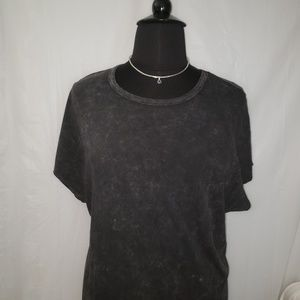 Lularoe 3X Charcoal Gray Mineral Wash Maria dress